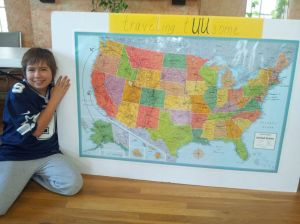 UU Austin with map