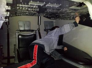 Inside shuttle