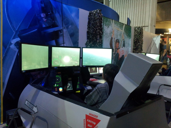 Piloting F-18 Flight Simulator