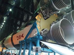 Rocket inside museum