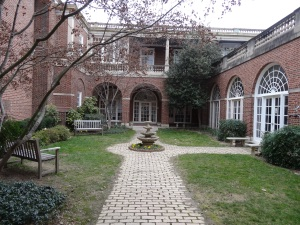 All Souls Church courtyard