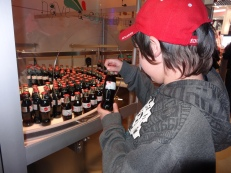 Getting his free bottle of Coke