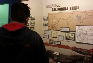 "Austin ""roadschooling"" at the Northeastern Nevada Museum, Elko, Nevada"