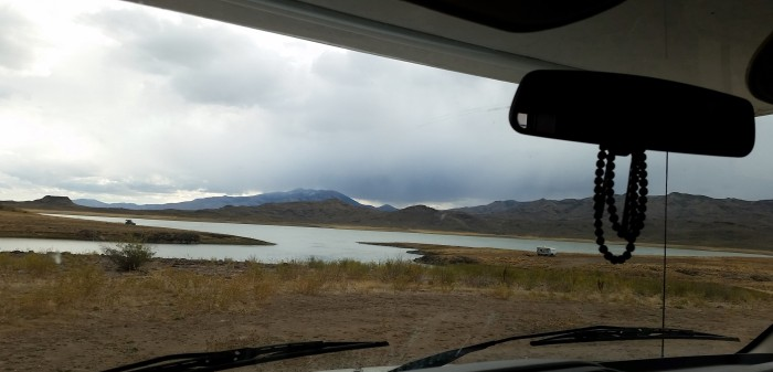 Our remote camping view, Shoshone-Paiute Tribal Lands, Nevada